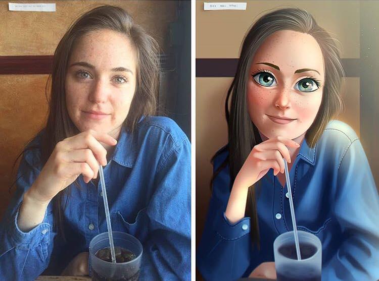 22 Hình chuyển thể từ người thật sang nhân vật hoạt hình tuyệt đẹp